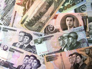 dinero korea norte