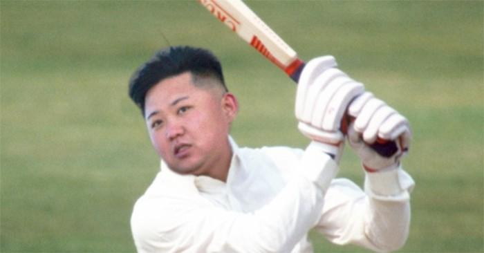 Kim jong un jugando a béisbol