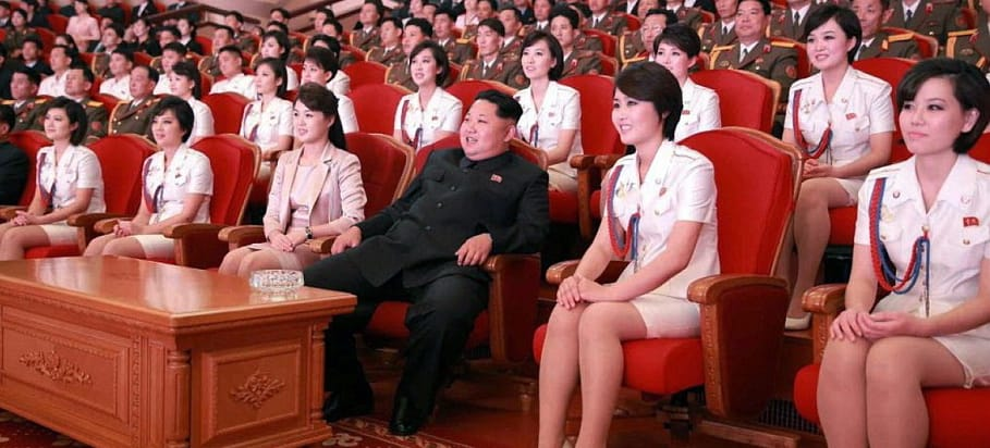 Kim jong un disfrutando