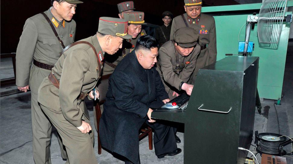 kim jong un con el ordenador