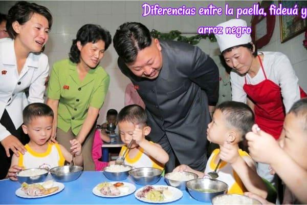 Diferencias entre la paella, fideuá y arroz negro